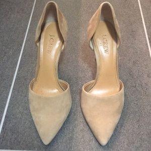 J. Crew suede heels